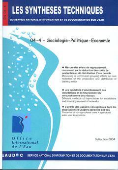 Couverture de l'ouvrage Sociologie-Politique-Economie (Les Synthèses techniques du service d'information et de documentation sur l'eau, EN 04-4)