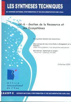Couverture de l'ouvrage Gestion de la ressource et des écosystèmes (Les Synthèses techniques du service national d'information et de documentation sur l'eau, EN 04-6)