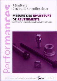 Couverture de l'ouvrage Mesure des épaisseurs de revêtements (Performances, résultats des actions collectives, 9P29)