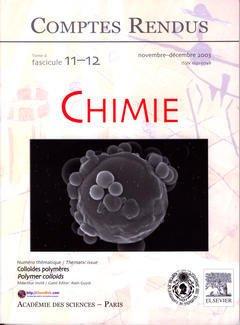Couverture de l'ouvrage Comptes rendus Académie des sciences, Chimie, tome 6, fasc 11-12, Nov-Dec 2003 : colloïdes polymères, Polymer colloids