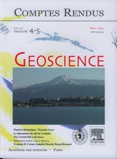Couverture de l'ouvrage Comptes rendus Académie des sciences, Géoscience, tome 336, fasc 4-5, Mars 2004 : le laboratoire du rift de Corinthe, The Corinth rift laboratory