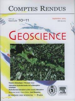 Couverture de l'ouvrage Comptes rendus Académie des sciences, Géoscience, tome 335, fasc 10-11, Sept 2003 : altérations hydrothermales de la lithosphère océanique...