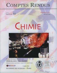 Couverture de l'ouvrage Comptes rendus Académie des sciences, Chimie, tome 5, fasc 11, Novembre 2002 : chimie du verre (1° partie), Glass chemistry (part I)