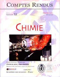 Couverture de l'ouvrage Comptes rendus Académie des sciences, Chimie, tome 5, fasc 12, Décembre 2002 : chimie du verre (2° partie), Glass chemistry (part II)