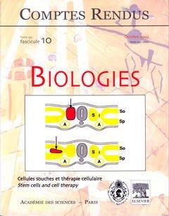 Couverture de l'ouvrage Comptes rendus Académie des sciences, Biologies, tome 325, fasc 10, Octobre 2002 : cellules souches et thérapie cellulaire, Stem cells and cell therapy