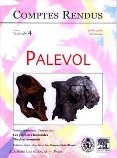 Couverture de l'ouvrage Comptes rendus Académie des sciences, Palevol, tome 3, fasc 4, Juillet 2004 : les premiers hominidés, The first hominids