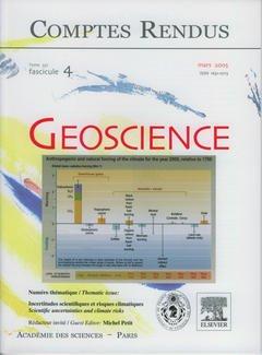 Couverture de l'ouvrage Comptes rendus Académie des sciences, Géoscience, tome 337, fasc 4, Mars 2005 incertitudes scientifiques et risques climatiques...