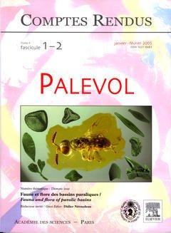 Couverture de l'ouvrage Comptes rendus Académie des sciences, Palevol, Tome 4, fasc 1-2, Janv-Fev 2005 : faune et flore des bassins paraliques Fauna and flora of paralic basins