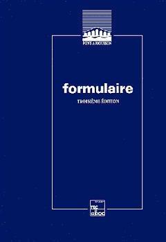 Couverture de l'ouvrage Formulaire (3° Ed.)