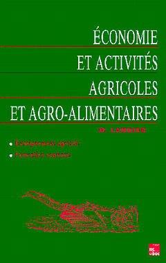 Couverture de l'ouvrage Économie et activités agricoles et agroalimentaires