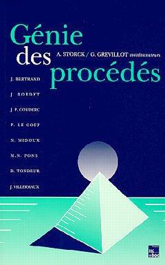 Couverture de l'ouvrage Génie des procédés