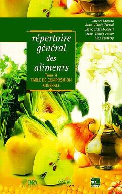Couverture de l'ouvrage Répertoire général des aliments. Tome 4 : table de composition minérale
