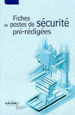 Couverture de l'ouvrage Fiches de postes de sécurité pré-rédigées (6D21)