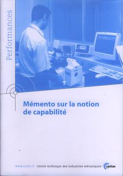 Couverture de l'ouvrage Mémento sur la notion de capabilité (Performances, résultats des actions collectives, 9P21)