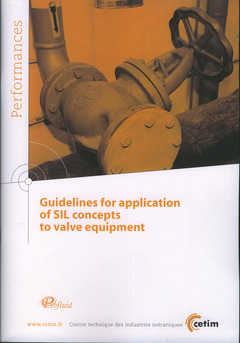 Couverture de l'ouvrage Guidelines for application of SIL concepts to valve equipment (Performances, 9Q109)