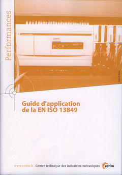 Couverture de l'ouvrage Guide d'application de la EN ISO 13849 (Performances, 9Q125)