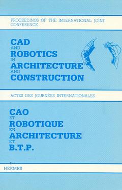 Couverture de l'ouvrage CAO et robotique en architecture et BTP