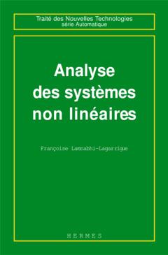 Couverture de l'ouvrage Analyse des systèmes non linéaires