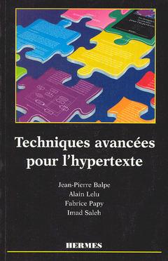Couverture de l'ouvrage Techniques avancées pour l'hypertexte