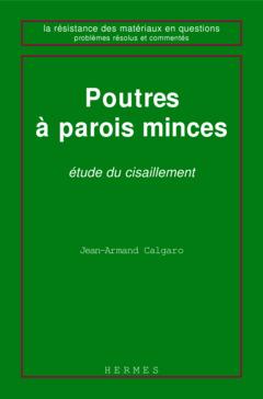 Couverture de l'ouvrage Poutres à parois minces