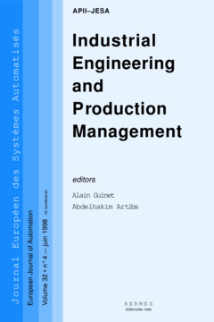 Couverture de l'ouvrage Industrial engineering and production management (JESA VOLUME 32 N°4 juin 1998