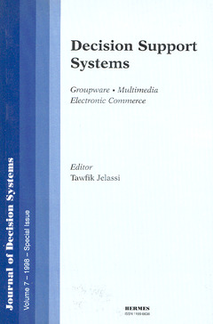 Couverture de l'ouvrage Decision support systems (JDS volume 7 1998) special issue