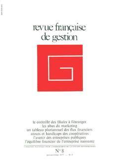 Couverture de l'ouvrage Revue française de gestion N°8 janvierfévrier 1977