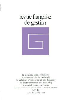 Couverture de l'ouvrage Revue française de gestion N° 39 janvier-février 1983