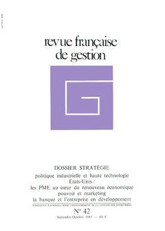 Couverture de l'ouvrage Revue française de gestion N° 42 septembre-octobre 1983
