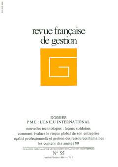 Couverture de l'ouvrage Revue française de gestion N° 55 janvier-février 1986