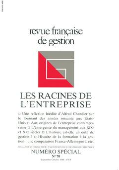Couverture de l'ouvrage Revue française de gestion N° 70 septembre-octobre 1988