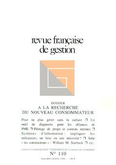 Couverture de l'ouvrage Revue française de gestion N° 110 septembre-octobre 1996