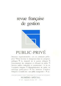 Couverture de l'ouvrage Revue française de gestion N° spécial 115 Septembre-Octobre 1997