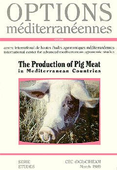 Couverture de l'ouvrage The production of pig meat in mediterranean countries (Options mediterranéennes)