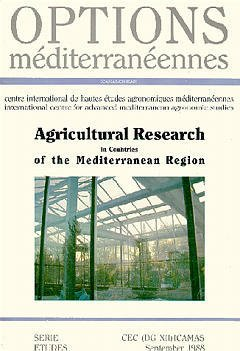 Couverture de l'ouvrage Agricultural research in countries of the mediterranean region (Options mediterraneennes)