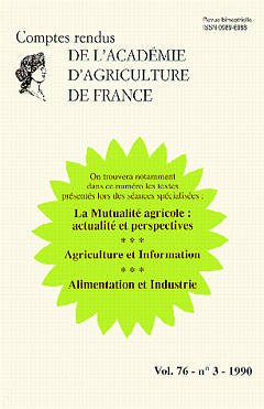 Couverture de l'ouvrage La Mutualité agricole:actualité et perspectives (Vol 76 N°3 1990)