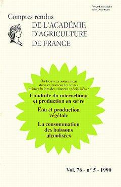 Couverture de l'ouvrage Conduite du microclimat et production en serre (Comptes rendus de l'AAF Vol.76 N° 5/1990)