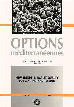 Couverture de l'ouvrage New trends in barley quality for malting and feeding (Série A/20)