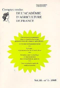 Couverture de l'ouvrage L'évolution de la pasteurisation , la Loire : végétation naturelle et horticulture...(Comptes rendus AAF Vol.81 N°1 1995)
