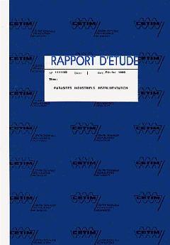 Couverture de l'ouvrage Parasites industriels, instrumentation (9B06)