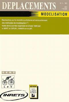 Couverture de l'ouvrage Déplacements N°4 : Modélisation.