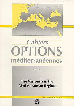 Couverture de l'ouvrage The varroosis in the mediterranean region (Cahiers Options méditerranéennes Vol.21 1997)
