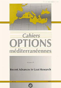 Couverture de l'ouvrage Recent advances in goat research (Cahiers Options Méditerranéennes Vol.25 1997)