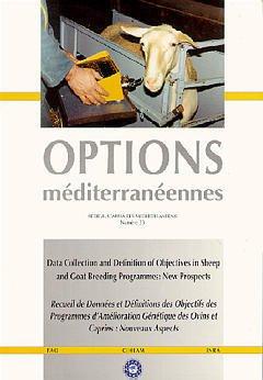 Couverture de l'ouvrage Recueil de données et définitions des objectifs des programmes d'amélioration génétique des ovins et caprins: Nouveaux aspects (Opt. méditerranéen. Ser.A N°33)