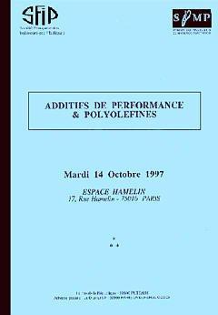 Couverture de l'ouvrage Additifs de performance et polyoléfines