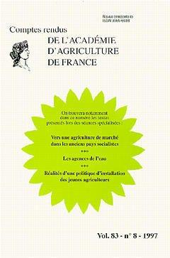 Couverture de l'ouvrage Vers une agriculture de marché dans les anciens pays socialistes (Comptes rendus de l'AAF Vol.83 N°8 1997)