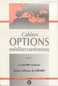 Couverture de l'ouvrage 10° GREMPA seminar: 10° colloque du Grempa (Cahiers Options méditerranéennes Vol.33 1998)