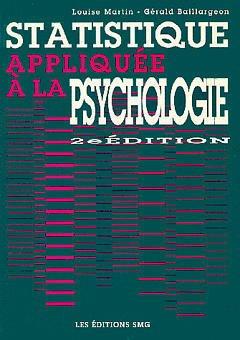 Couverture de l'ouvrage Statistique appliquée à la psychologie (2ème édition)