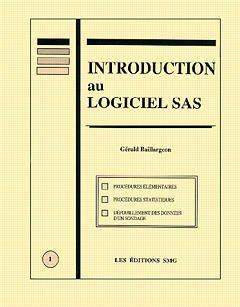 Couverture de l'ouvrage Introduction au logiciel SAS