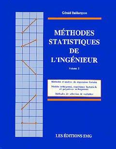 Couverture de l'ouvrage Méthodes statistiques de l'ingénieur Vol.2